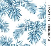 indigo seamless pattern with... | Shutterstock . vector #674119237