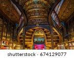 porto  portugal   april 19 ... | Shutterstock . vector #674129077