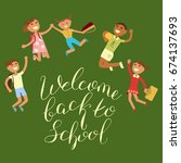 back to school concept. vector... | Shutterstock .eps vector #674137693