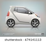 electric mini car   vector... | Shutterstock .eps vector #674141113