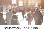 abstract crowd of people... | Shutterstock . vector #674144053