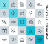 year icons set. collection of... | Shutterstock .eps vector #674153983