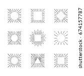 sunburst ink hand drawn vector... | Shutterstock .eps vector #674157787