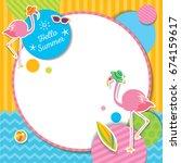vector of summer template...   Shutterstock .eps vector #674159617