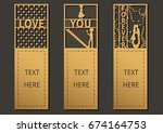 laser cut with wording set of... | Shutterstock .eps vector #674164753