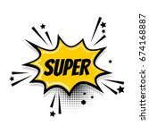 cartoon exclusive font label... | Shutterstock .eps vector #674168887