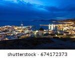 Mykonos Island Aerial Panorami...
