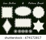set of openwork napkins of... | Shutterstock . vector #674172817