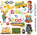 school and education. back to... | Shutterstock .eps vector #674176417