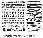 hand drawn vector set of... | Shutterstock .eps vector #674180317