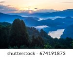 sunrise over great smoky... | Shutterstock . vector #674191873