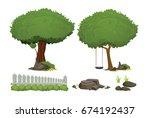 illustration trees pack  ... | Shutterstock .eps vector #674192437