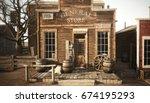 western town rustic general... | Shutterstock . vector #674195293