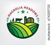 farming logo template ... | Shutterstock .eps vector #674205733