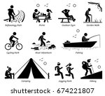 outdoor recreation recreational ... | Shutterstock . vector #674221807