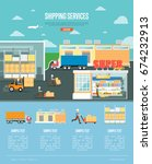 shipping services and retail... | Shutterstock .eps vector #674232913