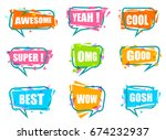 trendy speech bubble colorful... | Shutterstock .eps vector #674232937