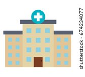 hospital building isolated icon | Shutterstock .eps vector #674234077