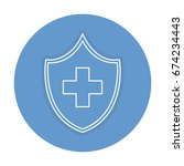 shield with cross icon | Shutterstock .eps vector #674234443