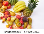 colorful fruits | Shutterstock . vector #674252263