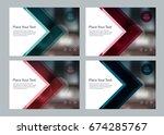 set template design for social... | Shutterstock .eps vector #674285767