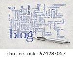 blogging and blog design word... | Shutterstock . vector #674287057