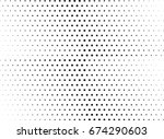 abstract halftone dotted... | Shutterstock .eps vector #674290603