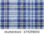 blue and yellow tartan or plaid ... | Shutterstock . vector #674298043