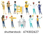 profession set for women  ... | Shutterstock .eps vector #674302627