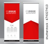roll up business brochure flyer ... | Shutterstock .eps vector #674327413