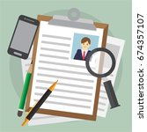 human resouce. infographic... | Shutterstock .eps vector #674357107