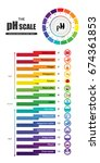 the ph scale universal... | Shutterstock .eps vector #674361853