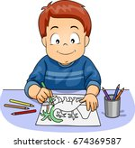 illustration featuring a cute... | Shutterstock .eps vector #674369587