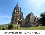 the ruins of the abbey of st.... | Shutterstock . vector #674377873
