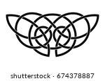 celtic national ornament...   Shutterstock .eps vector #674378887