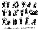 intimate violence during... | Shutterstock .eps vector #674390917