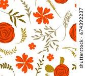 vector illustration. seamless...   Shutterstock .eps vector #674392237