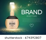 perfume and lotion bottle.... | Shutterstock .eps vector #674392807
