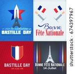 france  bastille day design ... | Shutterstock .eps vector #674397967