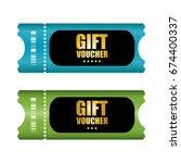 special voucher design  gift... | Shutterstock . vector #674400337