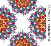 seamless pattern background... | Shutterstock .eps vector #674401777