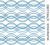 abstract wavy lines seamless... | Shutterstock .eps vector #674411383