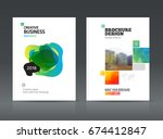 abstract business brochure... | Shutterstock .eps vector #674412847