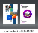 abstract business brochure... | Shutterstock .eps vector #674413003