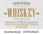 font.alphabet.script.typeface... | Shutterstock .eps vector #674414623