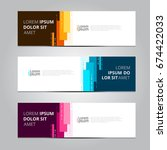vector abstract design banner... | Shutterstock .eps vector #674422033