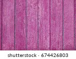 close up pink wooden background | Shutterstock . vector #674426803