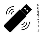 wifi signal usb icon | Shutterstock .eps vector #674435293
