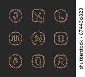 vector letters j  k  l  m  n  o ... | Shutterstock .eps vector #674436823