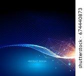 digital futuristic background... | Shutterstock .eps vector #674440873
